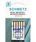 Иглы для бытовых швейных машин и оверлоков Microtex №70, (5 шт) (код 13)