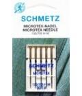 Иглы для бытовых швейных машин и оверлоков Microtex №90, (5 шт) (код 13)