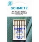 Иглы для бытовых швейных машин и оверлоков Microtex №90, (5 шт)