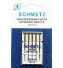 Иглы для бытовых швейных машин и оверлоков Universal №70 (5 шт)