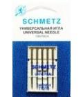 Иглы для бытовых швейных машин и оверлоков Universal №110 (5 шт)