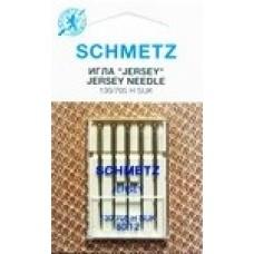 Иглы для бытовых швейных машин и оверлоков Jersey №80 (5 шт)
