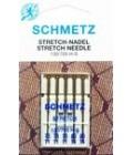 Иглы для бытовых швейных машин и оверлоков Stretch №75 (2шт), №90 (3 шт) (код 13)