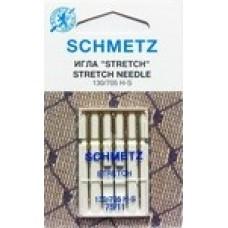 Иглы для бытовых швейных машин и оверлоков Stretch №75 (5 шт)