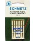 Иглы для бытовых швейных машин и оверлоков topstitch №80 (5 шт) (код 13)