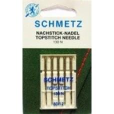 Иглы для бытовых швейных машин и оверлоков topstitch №80 (5 шт)