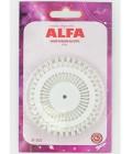 ALFA AF-3023 Булавки портновские на круге ALFA (код 17)