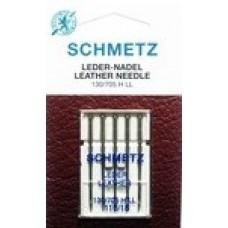 Иглы для бытовых швейных машин и оверлоков Leder Leather №110 (5шт)