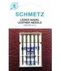 Иглы для бытовых швейных машин и оверлоков Leder Leather №120 (5шт)