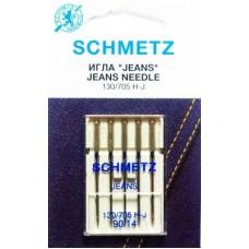 Иглы для бытовых швейных машин и оверлоков Jeans №90 (5 шт)