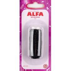 Нить элластичная (резинка) 25м Alfa AF-1111 черная