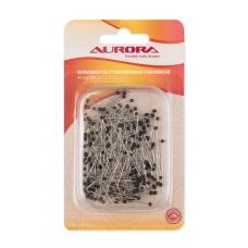 Булавки Aurora со стеклянной головкой, 40мм, 200шт/уп.