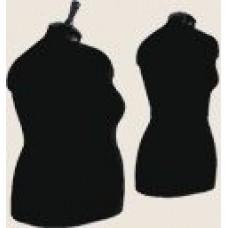 Манекен портновский твердый женский взрослый нераздвижной 42 размер 84/63/88 черный (торс)