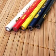 Мел карандаш 1шт. (цвета: белый, черный, желтый, красный, синий)