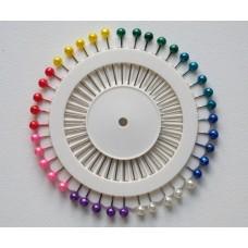 Булавки Вилли на кругу (с цветной головкой)