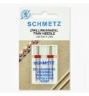 Иглы Schmetz двойные универсальные № 90/4 2 шт. (код 18)