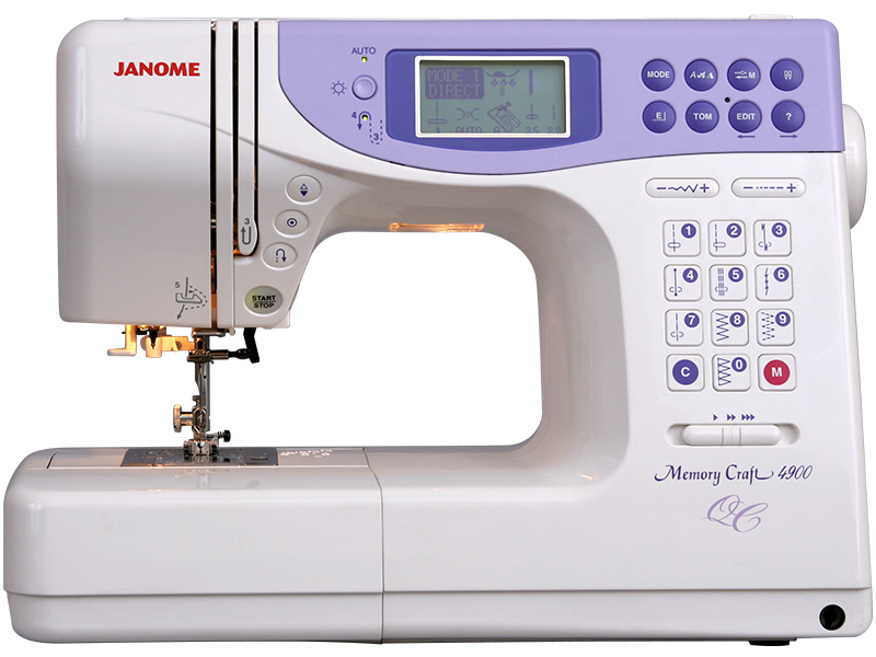 Janome Memory Craft 4900 QC  janome horizon memory craft 8200 qc